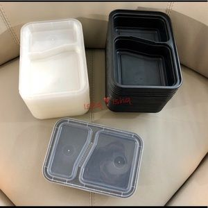 25 Meal Prep Containers with Lids 2 Compartment